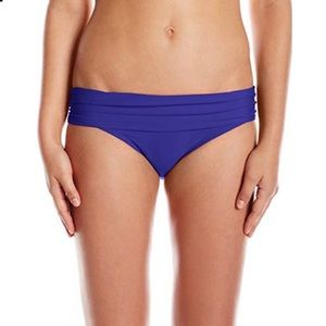 Athena solid side-ruched fold-over band BOTTOMS
